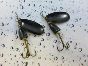 2 x 10g sonic spinner black black lures pike perch bass trout river fishing