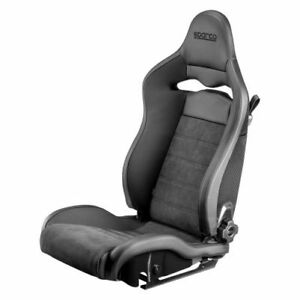 Sparco 00974ZNRSX SPX Series Street Racing Seat Driver Side Black Steel Shell