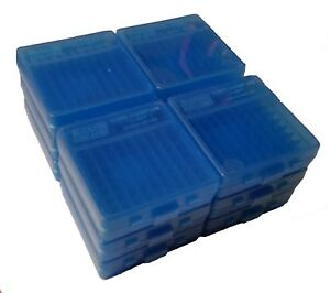 NEW MTM 100 Round Flip-Top 3809MM Ammo Box - Clear Blue (12 Pack)