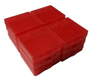 NEW MTM 100 Round Flip-Top 3809MM Ammo Box - Clear Red (12 Pack)