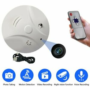 Mini Hidden Camera Smoke Detector Motion Detection HD Video Recorder Camcorders