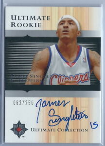 2005 2006 Ultimate Basketball James Singleton Clippers Autographed RC #062 250 $15.00