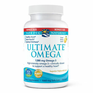 Nordic Naturals Ultimate Omega SoftGels - Concentrated Omega-3 Fish Oil