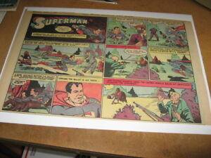 SUPERMAN COMIC PAGE 36 1940 Faster than a Speeding Bullet NICE WOW