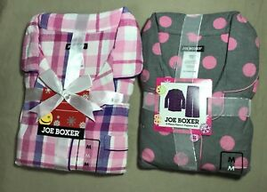 2 Sets Joe Boxer 2-Piece Flannel Pajamas  Women's Size Medium New #2