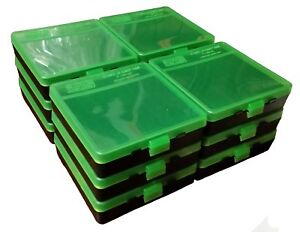 NEW MTM 100 Round Flip-Top 404510MM Ammo Box - Green Black (12 Pack)
