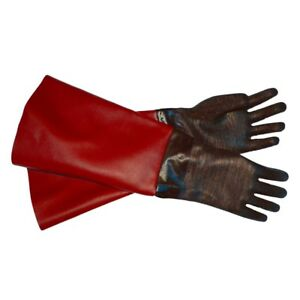 RED- GLOVES for Sandblaster Blast Cabinet- All Sizes - Made in USA HEAVY DUTY