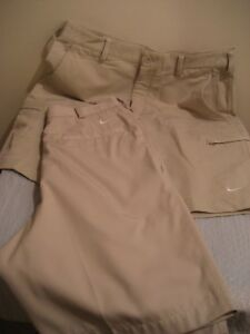 MENS NIKE FIT DRY GOLF SHORTS SIZE 30 two each new without tags