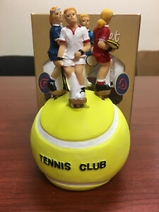 Tennis Theme Butter/Cheese Spreader Set w/Stand (4)