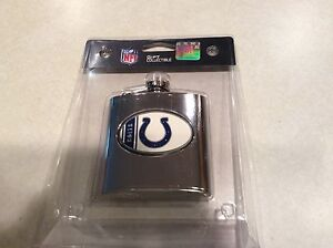 NIP Colts NFL football flask