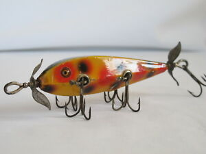 Vintage Heddon Dowagiac 5 Hook OO Minnow Rare Tackle Box Lure