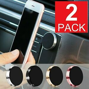 2 Pack Magnetic Car Dashboard Mount Holder For Cell Phone Samsung Galaxy iPhone