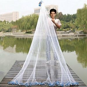 Handmade American Saltwater Fishing Cast Net with Heavy Duty Real Lead Weights