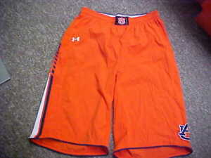 2013 Auburn Tigers Orange Under Armour Basketball Game Issued Shorts Size XL+4