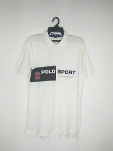 VINTAGE POLO RALPH LAUREN POLO SPORT SPELL OUT SHIRT P WING STADIUM 92