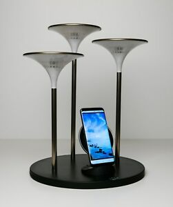 LED Desk Lamp with QI Wireless Phone Charger, Dimmer, Artistic, Intelligent and.