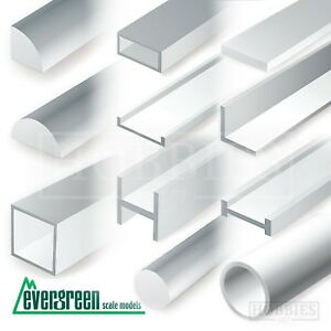 Evergreen Strip Styrene Rods Tubes Angles Model Scratch Building Plastic Build
