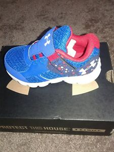 Under Armour Boys' Thrill Sneakers InfantToddler Size 5 Brand New