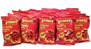 VITNER'S FLAMING HOT CHEESE CRUNCHY KURLS 25 Pack 1oz tasty bags