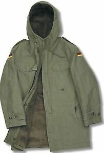 GERMAN ARMY CLASSIC BW PARKA MILITARY COAT WINTER COMBAT MENS LINED JACKET