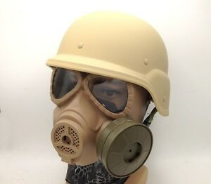 MILITAR TACTICAL AIRSOFT SWAT M88 HELMET ARGAME PROTECTION DUMMY M04 GAS MASK TA