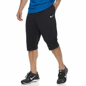 NWT NIKE Men's Dri-Fit Fleece Shorts BLACK S L XL