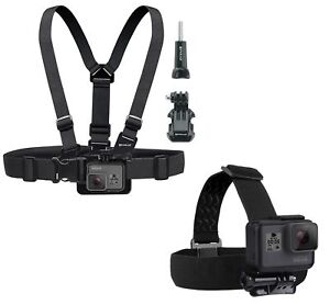 Adjustable Elastic Body Chest Harness and Head Strap for GoPro Hero Fusion