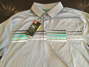 Under Armour Golf Coldblack men's loose fit polo shirt size L NWTMSRP$69.99