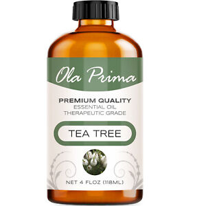 Tea Tree Essential Oil Multiple Sizes 100% Pure Amber Bottle