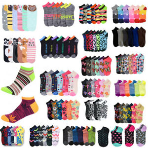 Women's Girl Crew Ankle Sports Sock Multi Pattern Fashion Casual Wholesale Lot