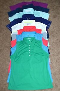 Lot of 8 Women's Under ArmourNikeAdidas Golf Shirts Size XL