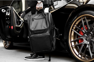Luxury Dual Leather Travel Laptop Business School Backpack for Men Briefcase New
