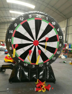 New Inflatable Game 2.4M Giant Inflatable Dart Board with Blower 110v or 220v