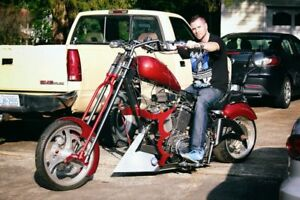 Custom chopper motorcycle project 95% done