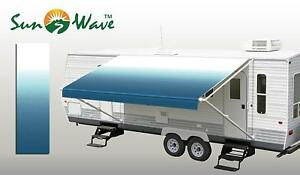 18' RV Camping Trailer Camper Awning Replacement Sun Shade Shelter Fabric Canopy
