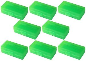 NEW MTM 50 Round Flip-Top 3809MM Cal Ammo Box - Clear Green (8 Pack)