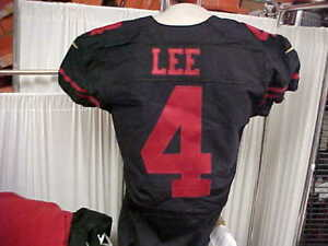 2015 NFL San Francisco 49ers #4 Andy Lee Team Issued Jersey Color Rush Size 44