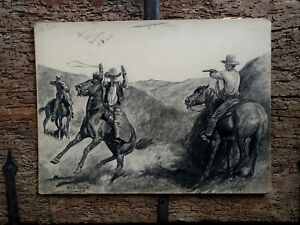 Will James - 1928 Original Western Illustration Art Red Book Magazine 20