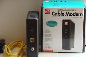 Zoom 8x4 Cable Modem 343 Mbps DOCSIS 3.0 Model 5345 Certified by Comcast XFINITY