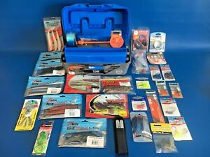 NEW! FLAMBEAU 2 TRAY TACKLE BOX LOADED WITH NEW! FISHING TACKLE