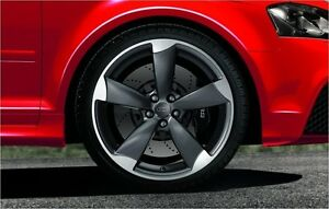 Genuine Audi A3 8P 18'' Complete Summer Wheel Set 5 Arm Rotor Design
