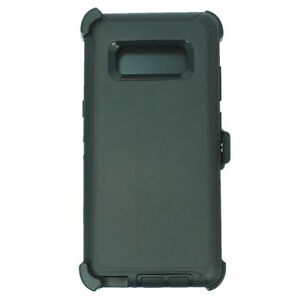 Black For Samsung Galaxy Note 8 Defender Case w Clip fits Otterbox
