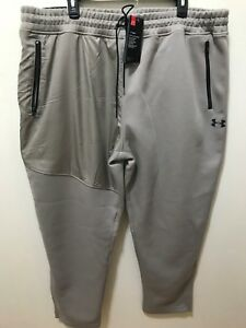 Under Armour Coldgear Mens Ecru Size 3XL Tapered Sweatpants $80 NWT #1298643-599