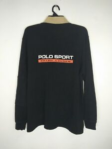 VINTAGE POLO RALPH LAUREN POLO SPORT SPELL OUT RUGBY SHIRT SIZE MEDIUM