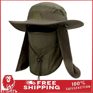 Wide Brim Cap Neck Face Flap Hat for Fishing Farmer Outdoor Work Sun Protection