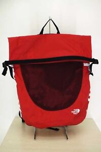 Supreme Backpack The North Face Nylon Waterproof Black White Red Excellent #0712