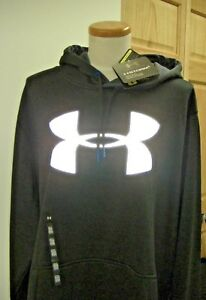 **AWESOME**BNWT*Under Armour**STORM**Mens**BLACK*LOOSE*BIG Logo Hoodie*2XL*BUY!!
