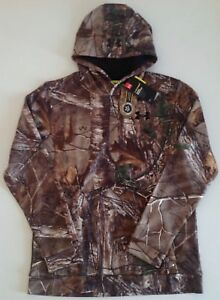 NWT Under Armour Youth Boys Realtree Storm1 Camo Hoodie Coldgear 1286119 946 XL