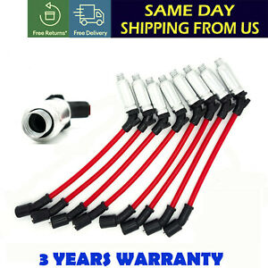 SPARK PLUG WIRES FIT FOR CHEVY SILVERADO 1500 2500 99 09 LS1 VORTEC 4.8 5.3 6.0L