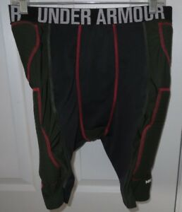 Mens Under Armour MPZ2 Football Padded Compression Shorts Girdle XLarge Olive